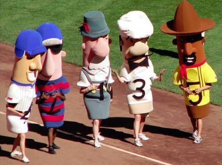 Brewers Racing Sausages at 5 Diamonds Fields in Waukesha