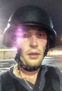 Abe Van Dyke in Ferguson, MO during protests and rioting