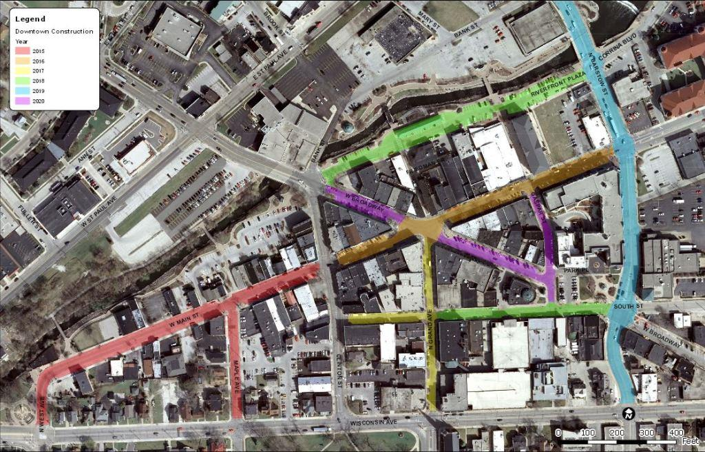 Downtown Street Construction Schedule 2015-2020